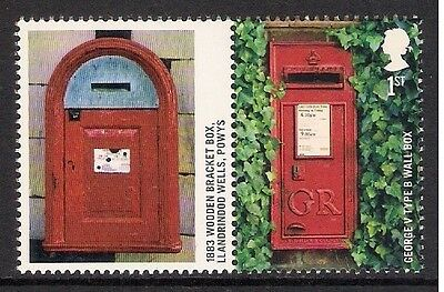 GB 2009 sg LS65 Post Boxes Smiler Sheet Single Stamp & Label Litho MNH