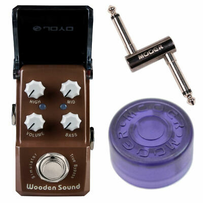 JOYO JF-323 Wooden Sound Acoustic Simulator Guitar Effects Pedal + Topper + PCZ