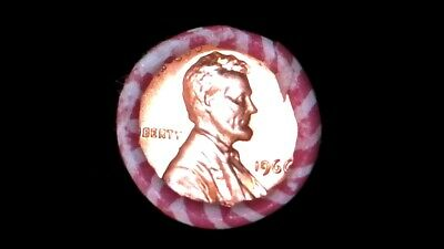 1966 P Bu Roll Lincoln Memorial Cent Hard Date To Get In Sealed Unsearched Roll