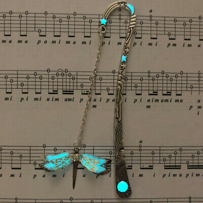 Luminous Night Dragonfly Bookmark Label Read Maker Feathers Book Mark Stationery