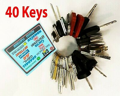 40 Keys Heavy Equipment Machines Construction master Ignition Key Set - BONUS!