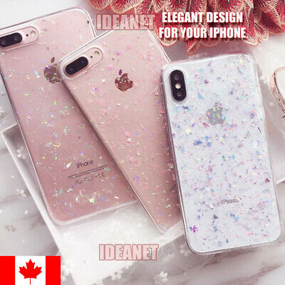 Cute Bling Glitter Silicone Slim Soft Case Cover For iPhone 6/6S 7/8 Plus XS XR
