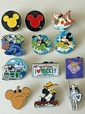 Lot Of 12 Official Disney Hidden Mickey Trading Pins Cast Member Authentic