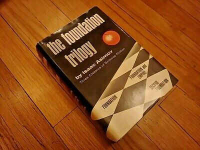 The Foundation Trilogy by Isaac Asimov 1951 BCE Book Club Edition HCDJ Doubleday