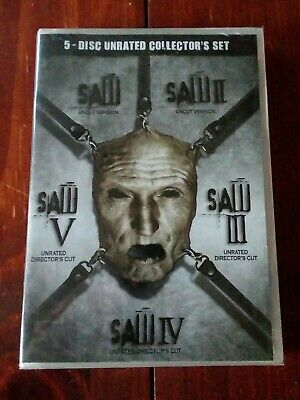 SAW 5 Disc Unrated Collectors Set Brand New In Plastic