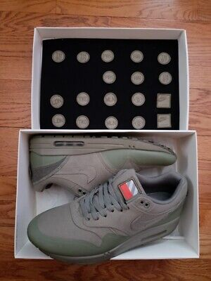competitive price 7f5a9 dac8b Nike Air Max 1 One V SP Steel Green Patches Pack Nikelab QS SZ 11.5 704901