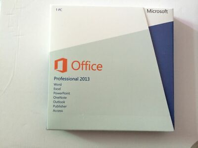 Microsoft Office 2013 Professional 32/64-bit with CD and Product Key Code
