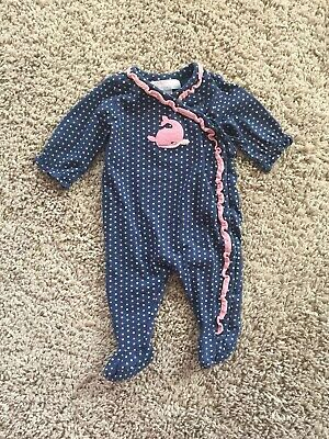 bfa7190a Janie And Jack Baby Girls Layette Whale Sleeper One-piece Outfit. 0-3
