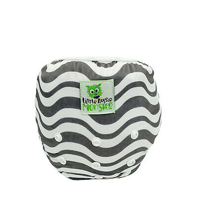 Grey Chevron Swim Nappy - Reusable Adjustable Eco Swimmers Babies to toddlers