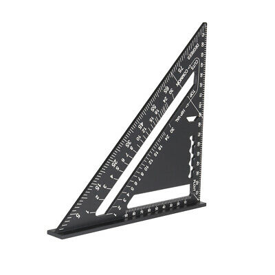 """Heavy Duty Aluminum Alloy Ruler Carpenter Speed Square 7"""" Measuring Layout Tool"""