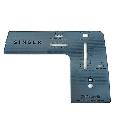 Singer 638 PART - Faceplate / Front Panel - sewing - face plate