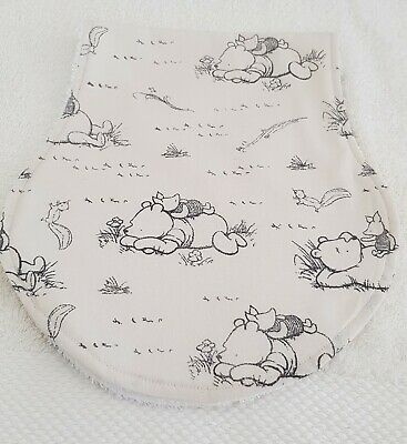 Burp Cloth. Winnie The Pooh White Towel Back. Cotton Front. .