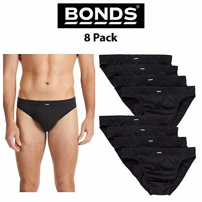 Mens Bonds Action Hipster Bikini Brief Jocks 8 Pack M8OS4 Comfy Underwear Cotton