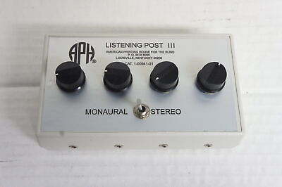 🍀 ‡ RARE TO FIND! ‡ APH Blind Listening Post III 1-00941-01 Audio Splitter