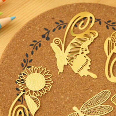 1PC Gold Plated Metal Hollow Animal Sunflower Bookmark Book Paper Reading Gifts