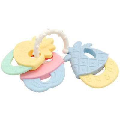1Pc Fruits Shape Baby Teether Toothbrush Silicone Infant Bite Toys Teething Ring