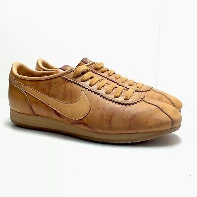 11af841c3ed3c VINTAGE 80S NIKE Village Leather Casual Sneakers Mens Size 7.5 USA Made Rare