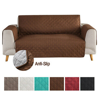 Thick Sofa Slip Cover Quilted Couch Cover Pet Dog Mat Furniture Protector Throw