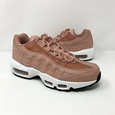 b12fca6e02 Nike Women's Air Max 95 Running Shoes Size 5.5 Rust Pink/Beige Black 307960-