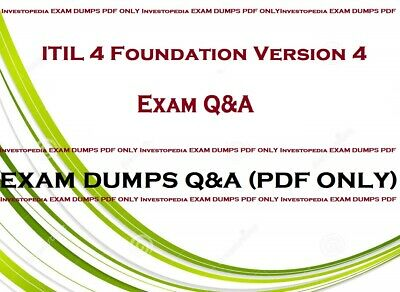 ITIL 4 Foundation Version 4 Exam dumps Questions and answers