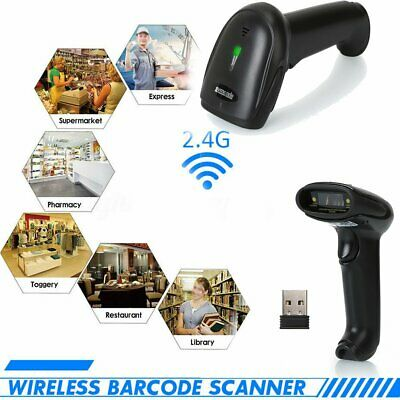 2.4G USB Wireless Cordless Portable Laser Barcode Scanner Bar Code Reader POS AU