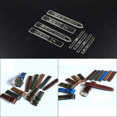 Transparent Acrylic Watch Strap Band Stencil Template DIY Leather Craft Tool