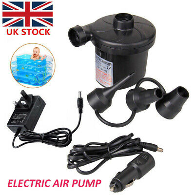 Electric Air Pump Inflator for Inflatable Camping Bed Pool 12/240V Car Home Plug