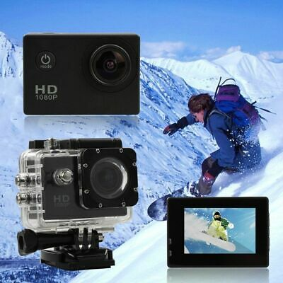 ACTION CAM 1080p FULL HD Subacquea Sport Camera Telecamera Videocamera Digitale