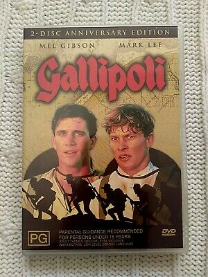 Gallipoli – Mel Gibson - Dvd, 2-Disc Anniversary Edition-R-4 Like New -Free Post