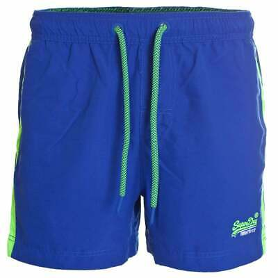 Superdry Men's Beach Volley Swim Shorts Racer Cobalt