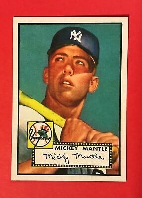 Mickey Mantle 1952 Topps #311 Rookie - Reprint Baseball Card - Yankees - RP