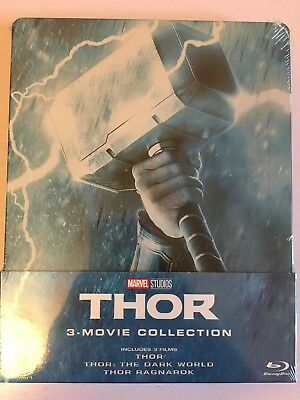 Thor 1-3 Movie (Trilogy)Collection (Blu-Ray Steelbook)