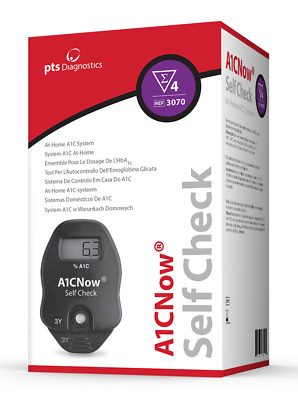 A1CNow SELF CHECK HbA1c At Home A1C System - Includes 4 Tests