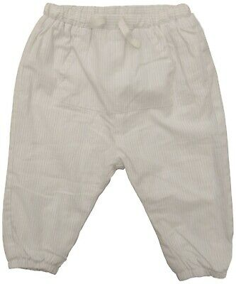 Zara baby Girls cream cotton TROUSERS 9/12M fully lined 80cm