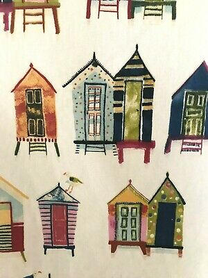prestigious textiles beach hut fabric remnant 100% cotton 60cm x 40cm