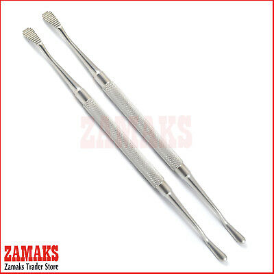 Set Of 2 Millers Bone File Orthopedic Scraper Equipment Chiropody Podiatry Tools