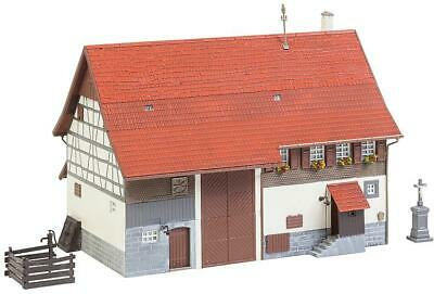 Faller HO Scale Building/Structure Kit Old Farmhouse/Lower Barn (Weathered)
