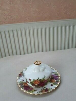 Royal Albert Old Country Roses Butter Dish. 1St Quality. Good Cond.
