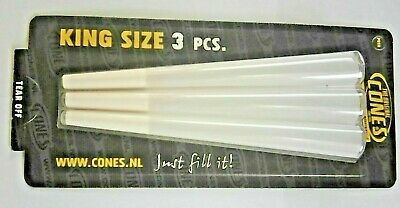 Pack Of 3 King Size Pre Rolled Rizla Cones Like Raw Cones For Smoking Grass
