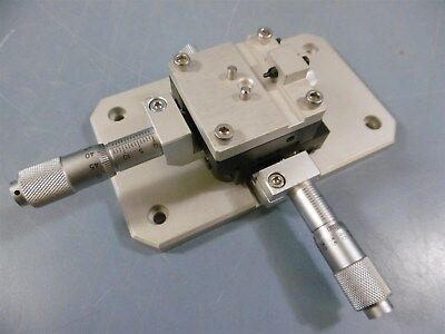 Optosigma T-2157 2 Axis Spring Table Adjustable + 2 Micrometers Table