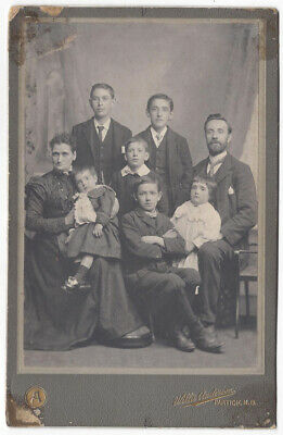 CABINET CARD Photograph Victorian Family by Anderson of Partick