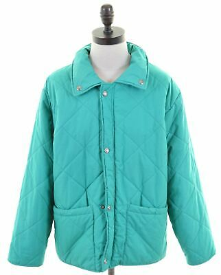 FILA Girls Quilted Jacket 13-14 Years Green Polyester Vintage LC31