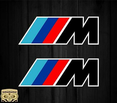 Pegatina Sticker Aufkleber Autocollant Adesivi Decal X2 Bmw Motorsport Laminated