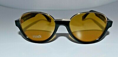 7391abaa17861 New FENDI Auth Black Gold Limited Edition FF 0059 S MRZBZ Small 52mm  Sunglasses