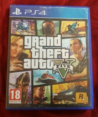 CASE ONLY & Map etc Grand Theft Auto V (Sony PlayStation 4, 2014) Box only