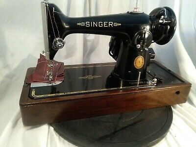 Singer 201k sewing maching,SERVICED  VIDEO, PAT TESTED  LEATHER