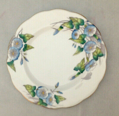 "ROYAL ALBERT FLOWER OF THE MONTH No 9 MORNING GLORY 8"" PLATE HAND PAINTED CHINA"