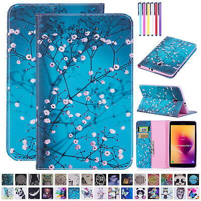 For Samsung Tab A 8.0 T380 T385 Case Stand Luxury Leather Card Holder Flip Cover