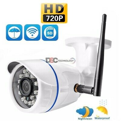 Wifi 720P HD ONVIF P2P Outdoor Wireless IR Cut Security IP Camera NightVision US