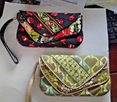 VERA BRADLEY FLAPPER WRISTLET/WALLET -Sittin in a Tree or Poppy Fields-NEW